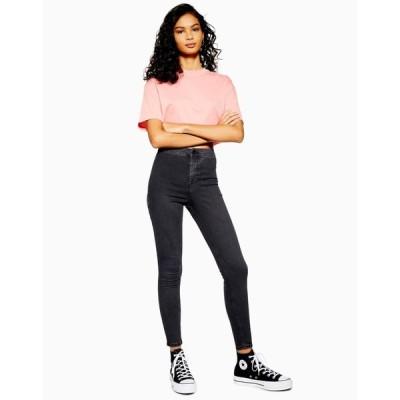 トップショップ Topshop Tall レディース ジーンズ・デニム ボトムス・パンツ washed black Joni jeans ブラック