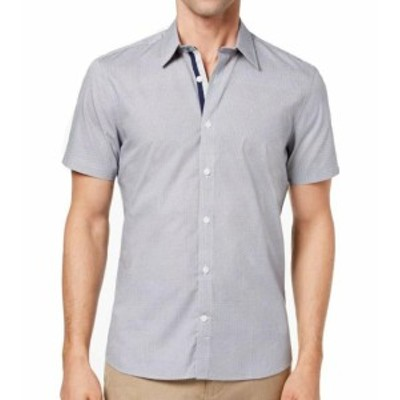 Ryan  ファッション アウター Ryan Seacrest Mens Navy Blue Size 2XL Geometric Print Button Up Shirt
