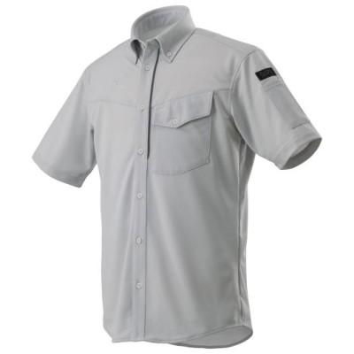 ミズノ ニットワークシャツ半袖(ネーム刺繍対応)[メンズ] 04ベイパーシルバー L ワーキング用品 ウエア F2JC8590_s