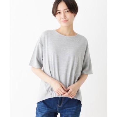 pink adobe / ピンクアドベ リップル素材 裾ゴム カットソー