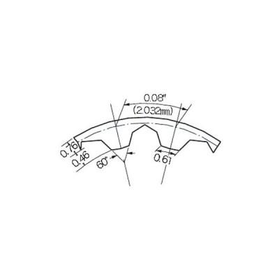 タイミングベルト T80形(ポリウレタン) 三ツ星ベルト 81T80-9.5