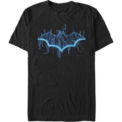 フィフス サン Fifth Sun メンズ Tシャツ トップス DC Batman Digital Bat Logo Short Sleeve T-Shirt Black