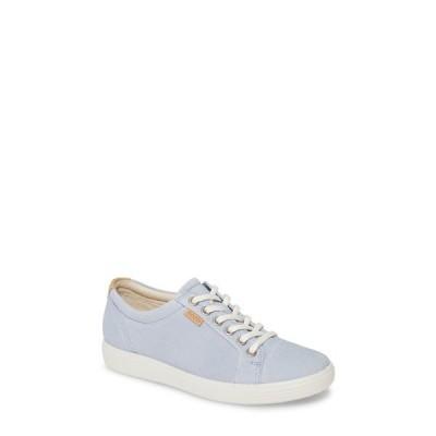 エコー スニーカー シューズ レディース Soft 7 Sneaker Dusty Blue Leather