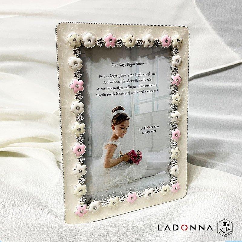 送禮 LADONNA Bridal幸福花嫁 群花點綴 4x6相框