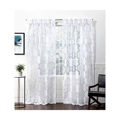 Exclusive Home Curtains リオ PP カーテンパネル 54x108 ウィンターホワイト