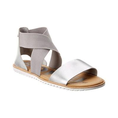 ソレル サンダル シューズ レディース SOREL Ella Leather Sandal pure silver leather