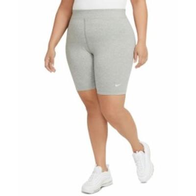 ナイキ レディース ハーフパンツ・ショーツ ボトムス Sportswear Plus Size Women's Essential Mid-Rise Bike Shorts Dk Grey Heather/wh