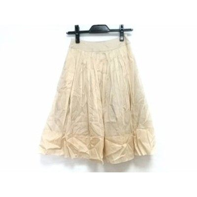 フォクシー FOXEY スカート レディース 美品 コットンオーガンジースカート 23771 ベージュ【中古】20200805