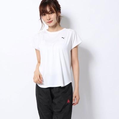 プーマ PUMA レディース フィットネス 半袖Tシャツ STUDIO SS メッシュ Tシャツ 518797