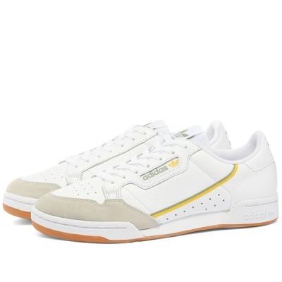 アディダス Adidas メンズ スニーカー シューズ・靴 Continental 80 White/Gum
