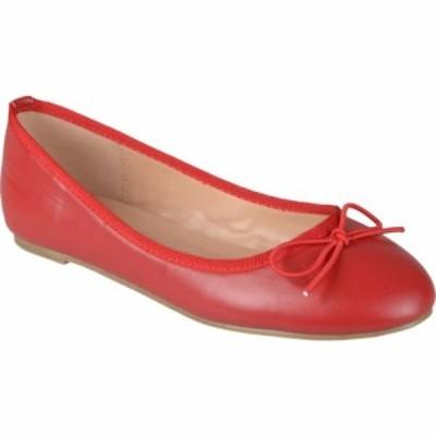 ジュルネ コレクション Journee Collection レディース スリッポン・フラット シューズ・靴 Vika Flat Red
