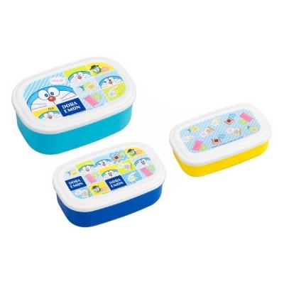 お弁当箱 シール容器 抗菌 3個セット ドラえもん ( 弁当箱 デザートケース レンジ対応 入れ子式 ランチボックス 抗菌加工 AG 子供 )