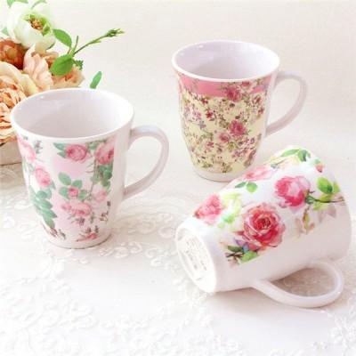 マグカップ おしゃれ 北欧 大きい 可愛い セット 薔薇雑貨 姫系 花柄 ボタニカル 花柄 かわいい 母の日ギフト メラミン
