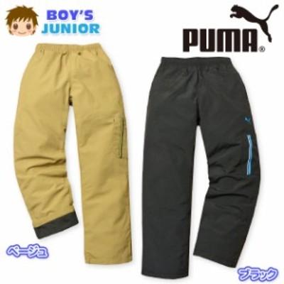 子供服 男の子 ロング カーゴ パンツ PUMA プーマ ボトム 裏トリコット ロゴ刺繍 ウエストゴム 男児 ジュニア