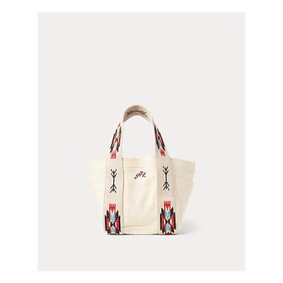 ポロ ラルフローレン レディース Polo Ralph Lauren Canvas Embroidered Mini Tote ミニトートバッグ Natural Multi