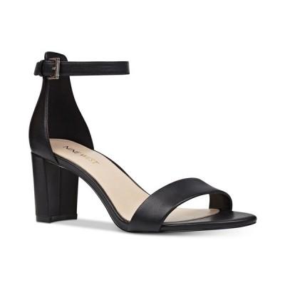 ナインウェスト サンダル シューズ レディース Women's Pruce Ankle Strap Block Heel Sandals Black Leather