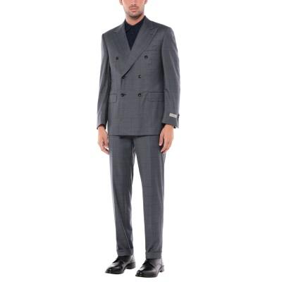カナーリ CANALI スーツ ブルーグレー 48 スーパー150 ウール 100% スーツ