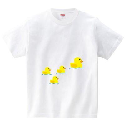 [itaxes] アヒルの親子 [Tシャツ・ホワイト](フォーヴァ)