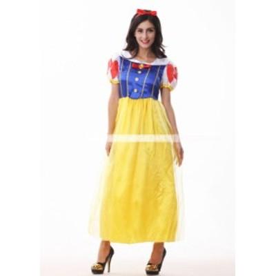 白雪姫 コスプレ コスチューム ハロウィン ドレス ロングドレス