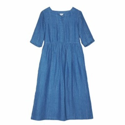 ワンピース ゆったりブルー レディース 体型カバー着痩せ 母の日 プレゼント 新作 お洒落 キレイめ  夏用 涼しい20代30代4