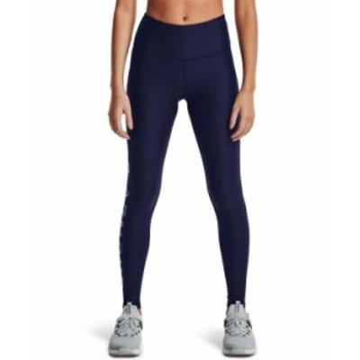 アンダーアーマー レディース カジュアルパンツ ボトムス Women's HeatGear® High-Waist Leggings Midnight Navy / Mineral Blue / M