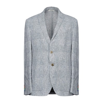 TELLINI テーラードジャケット ダークブルー 52 麻 61% / コットン 27% / ナイロン 12% テーラードジャケット