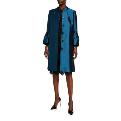 キャロライナヘレラ レディース ジャケット・ブルゾン アウター Silk Taffeta Bell-Sleeve Opera Coat