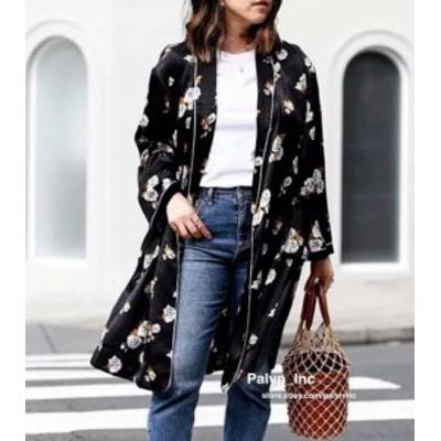 ファッション 衣類 NWT ZARA AW17 COMBINED KIMONO FLORAL PRINT DRESS KIMONO JACKET 7860/110_S M L