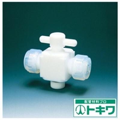 フロンケミカル フッ素樹脂(PTFE)二方バルブ接続6mm NR0028-001 ( 3915379 )