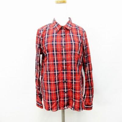【中古】クローラ crolla シャツ チェック 長袖 38 Mサイズ ●28 レディース 【ベクトル 古着】