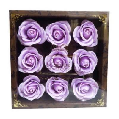 お花のカタチの入浴剤 ミニローズフレグランスL 9輪入り 771613
