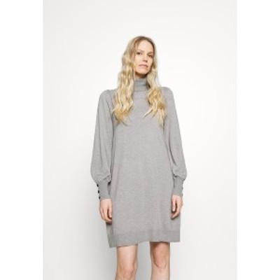 ウォリス  レディース ワンピース トップス ROLL NECK SWING DRESS - Jumper dress - stone stone