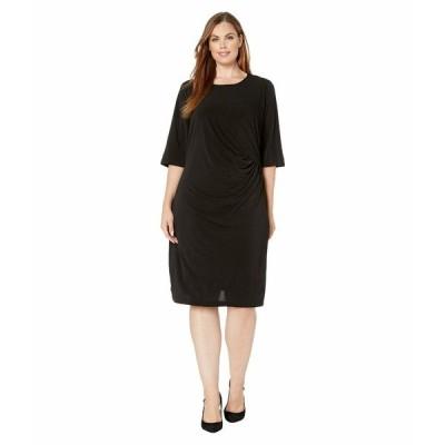 ニックプラスゾーイ ワンピース トップス レディース Plus Size Fundamental Drape Dress Black Onyx