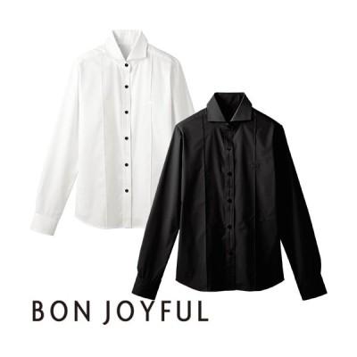 ボンユニ BONUNI 長袖ホリゾンタルカラーシャツ 24215-81、24215-99