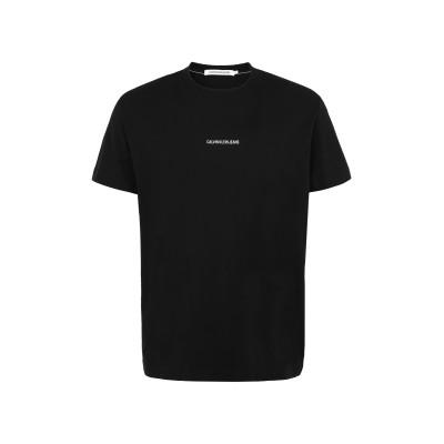 YOOX - CALVIN KLEIN JEANS T シャツ ブラック S オーガニックコットン 100% T シャツ