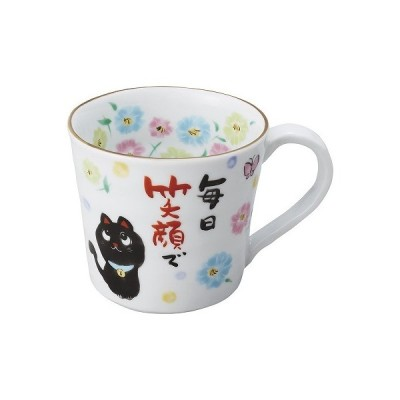 ギフト 内祝い お礼 お返し 夕立窯 感謝 マグカップ(木箱入り) YK570 黒猫 出産内祝い 結婚内祝い お中元