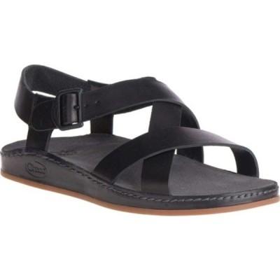 チャコ レディース スニーカー シューズ Wayfarer Leather Sandal Black Full Grain Leather