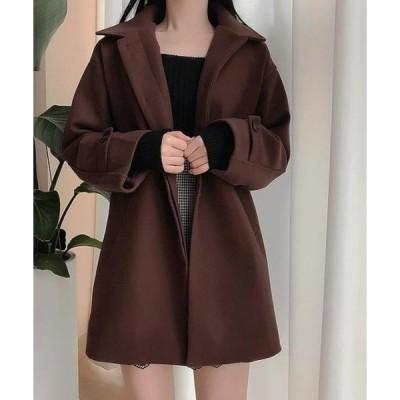 SOMEDAYS レディース コート Mellow collar snap coat