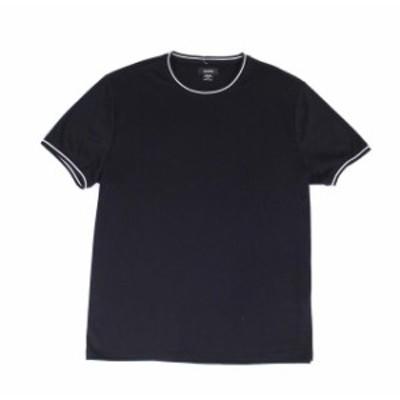 Alfani  ファッション トップス Alfani NEW Black Deep Mens Size XL Striped Trim Stretch Tee T-Shirt