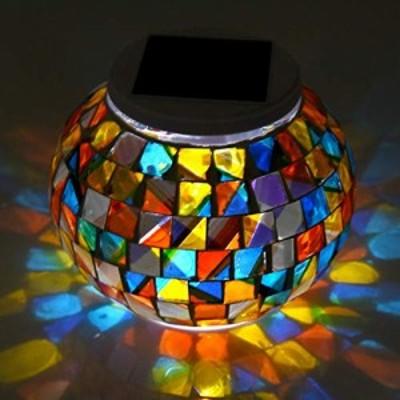 【送料無料】LEDGLE ソーラーライト ガーデンライト ガラスランプ ソーラー充電式 イルミネーションライトソーラーLED ガラス製 庭 ベラ