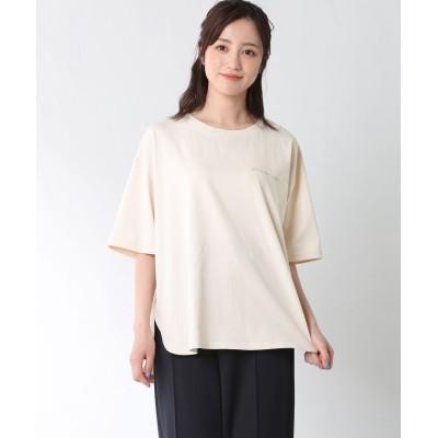 (Honeys/ハニーズ)フォトプリントTシャツ/レディース ベージュ