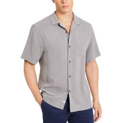 トッミーバハマ メンズ シャツ トップス Men's Weekend Tropics Silk Shirt Shadow Gray