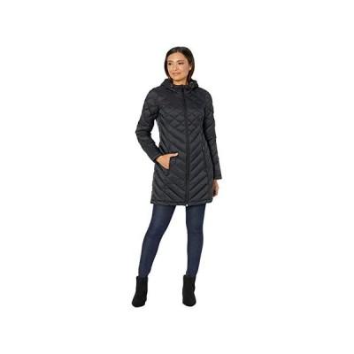 トミー・ヒルフィガー Mid Length Hooded and Quilted Packable Jacket レディース コート アウター Black