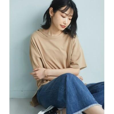 tシャツ Tシャツ スリットネックTシャツ *◇