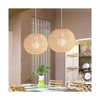 [新品]LAKIQ Farmhouse Globe Single Pendant Light Creative Rattan Kitchen Island Lighting Modern Hanging Ceiling Pendant Lights for Din