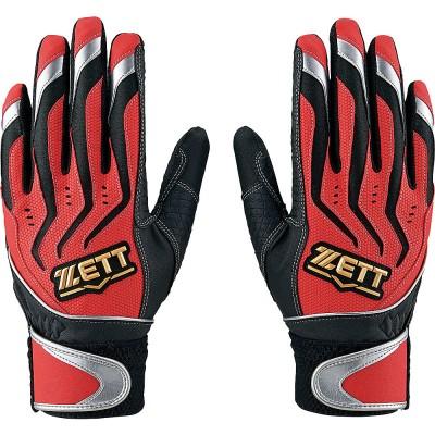 ZETT (ゼット) バッティング グラブ(リョウテヨウ) S RED ジュニア BG999J-6413
