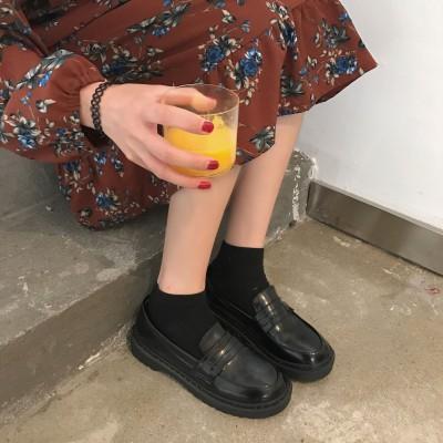 限定数量セール!! 大人気!!! レディース 厚底 ローファー 学生靴 通勤 通学 撥水加工  防滑 防臭