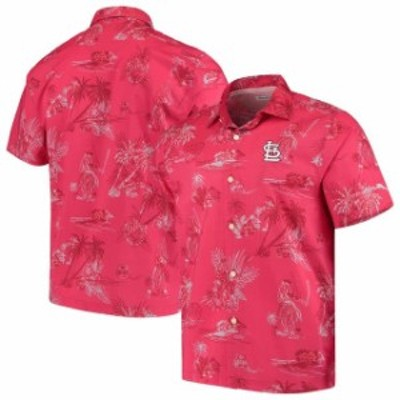 Tommy Bahama トミー バハマ シャツ ポロシャツ Tommy Bahama St. Louis Cardinals Red Seventh Inning Button-Up Shirt
