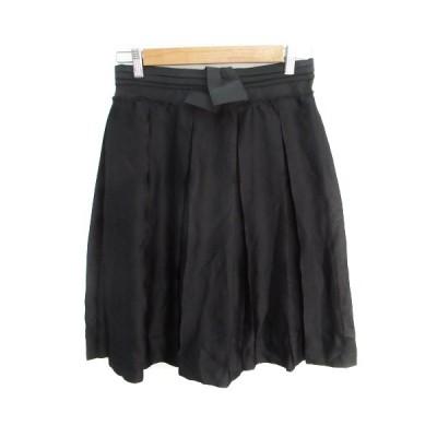 【中古】コズミックワンダージーンズ COSMIC WONDER JEANS スカート フレア ギャザー ミモレ丈 2 黒 ブラック /FF4 レディース 【ベクトル 古着】
