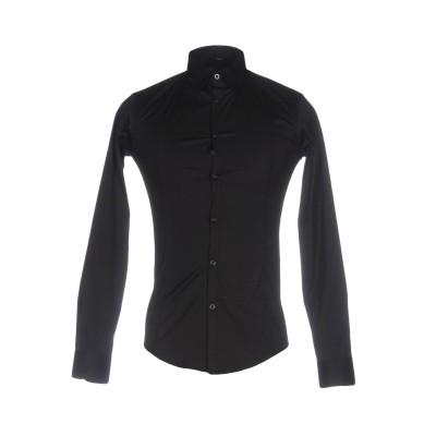 アルマーニ ジーンズ ARMANI JEANS シャツ ブラック M コットン 75% / ナイロン 20% / ポリウレタン 5% シャツ
